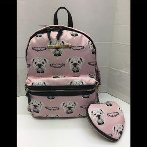 Betsey Johnson 🐕 Pug Dog Backpack w/Wristlet